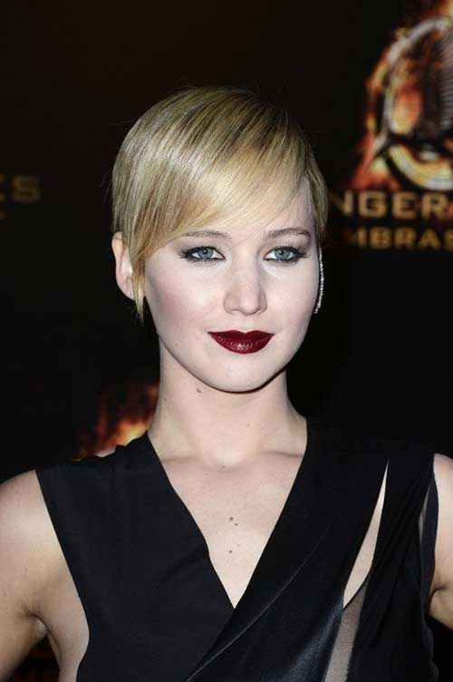 Jennifer Lawrence Thin Pixie Hair Cut