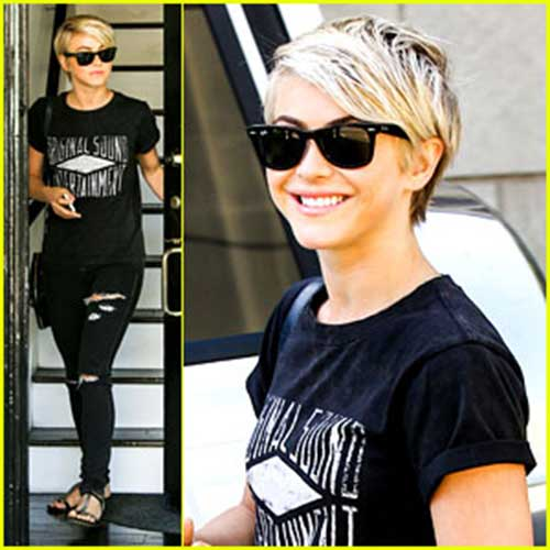 Julianne Hough Trendy Pixie Cuts