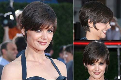 Katie Holmes Fine Hair Pixie