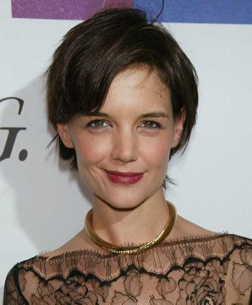Katie Holmes Cute Pixie Cut Photos