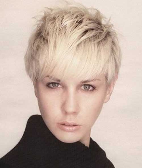 Layered Ash Blonde Pixie Cut Ideas with Bangs