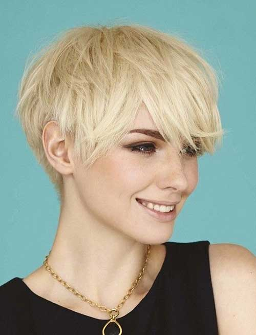 Layered Fine Pixie Haircuts