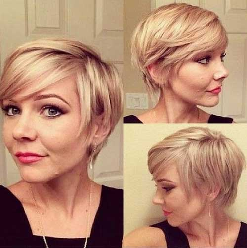 Layered Blonde Pixie Cuts