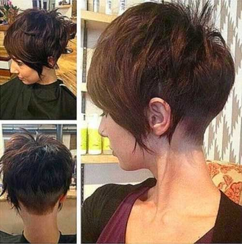 Layered Pixie Dark Hair with Bangs