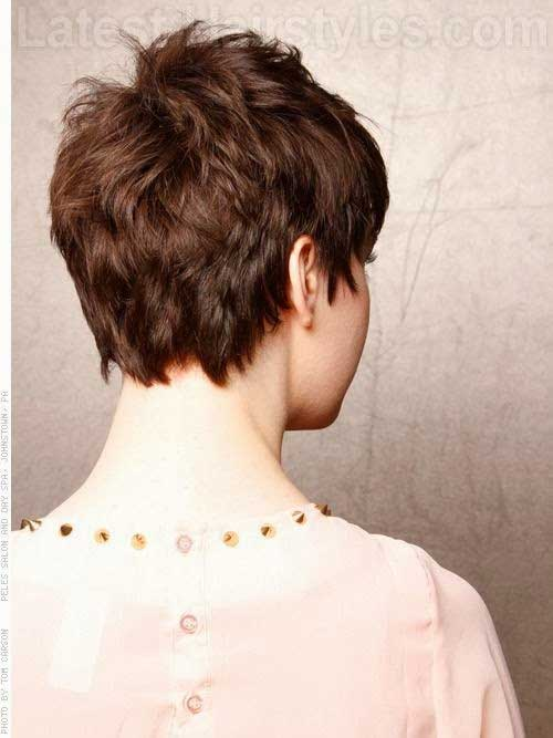 Layered Short Pixie Back View Look