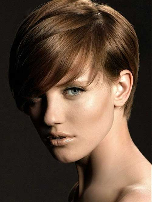 Light Brown Pixie Cut Style