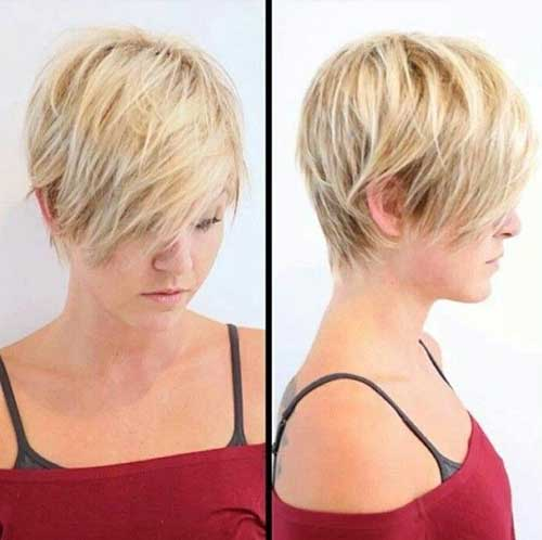 Long Blonde Pixie Hair Cut