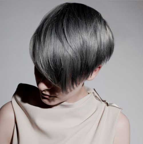 Long Gray Pixie Cuts