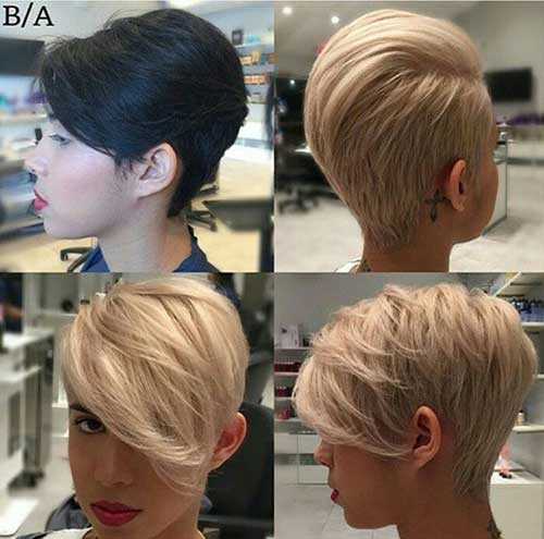 Long Pixie Blonde Haircuts Ideas