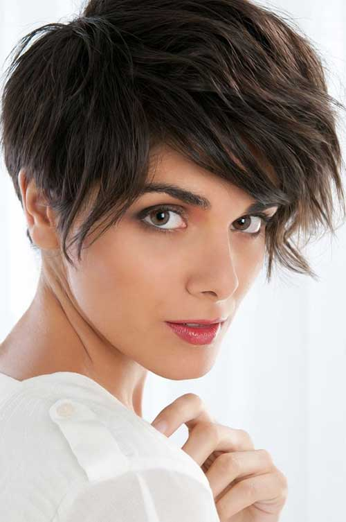Long Pixie Cuts with Wavy Bangs