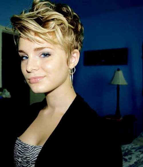 Long Wavy Pixie Hair Cut