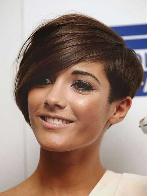 Longer Dark Brown Pixie Haircuts
