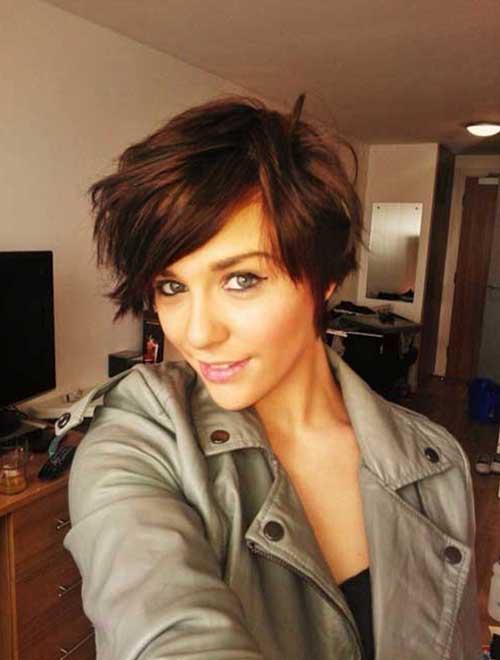 Modern Wavy Pixie Haircut