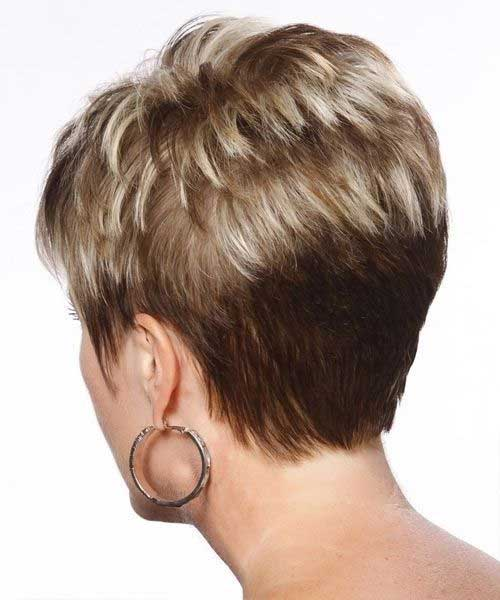Older Women Short Pixie Back View Pictures