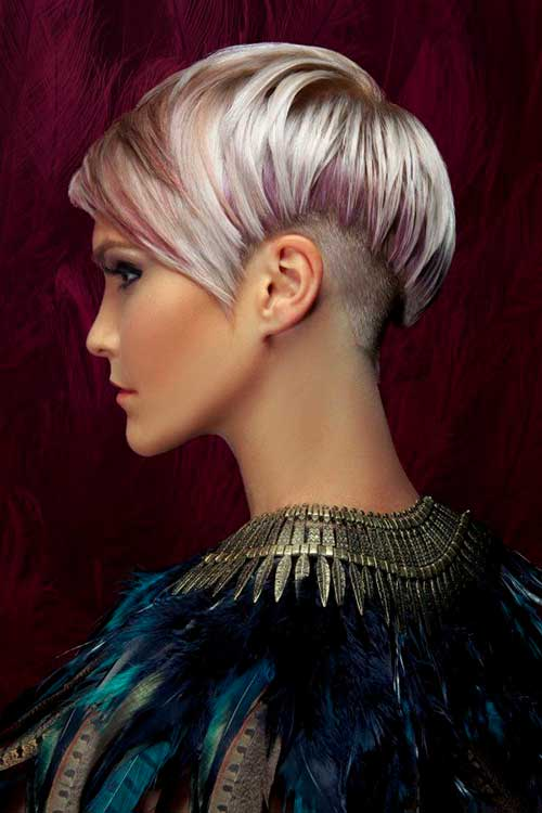 Pink Highlighted Pixie Hairstyle Ideas