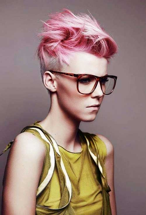 Pastel Pink Short Pixie Haircuts