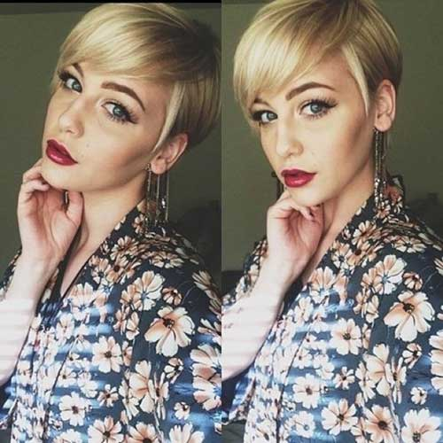 Pixie Blonde Haircuts for Long Faces