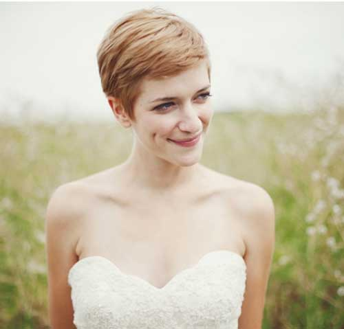 Pixie Blonde Hairstyles for Wedding Hair