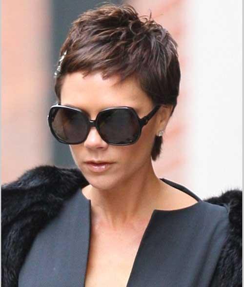 Pixie Choppy Haircut Brunette Styles