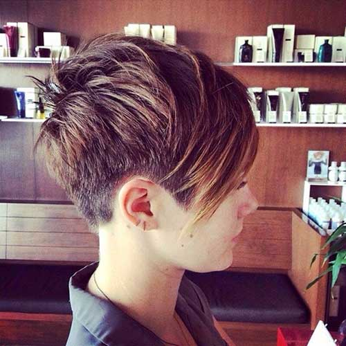 Pixie Cropped Asymmetric Hair