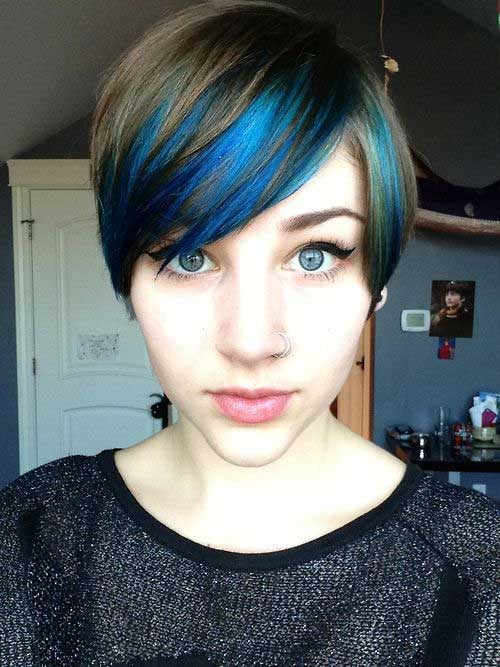 Pixie Cut Blue Colour
