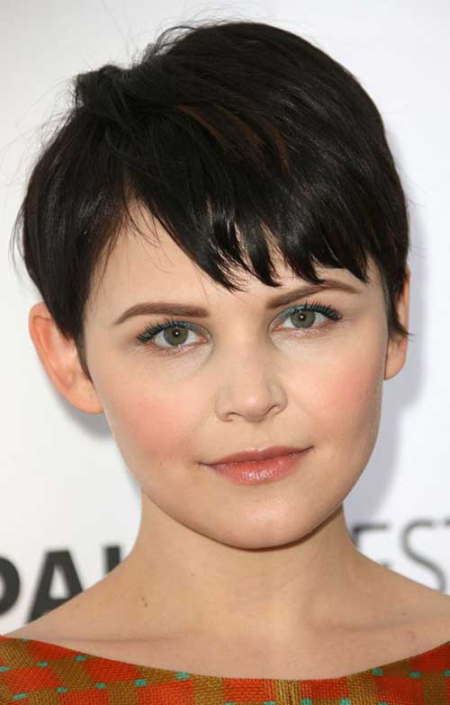 Pixie Cut Dark Hair Styles for Round Faces