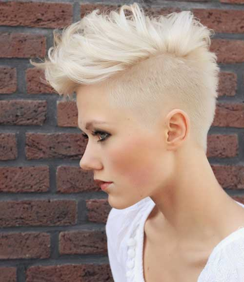 Blonde Pixie Cut Mohawk