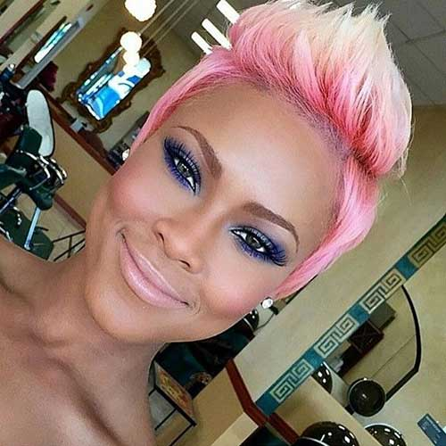 Cute Pixie Cut Pink
