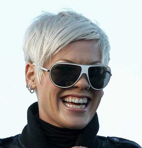 Girl's Pixie Cut for Gray Hair