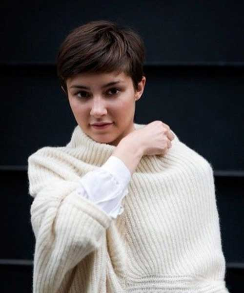 Pixie Cut with Straight Bangs Ideas
