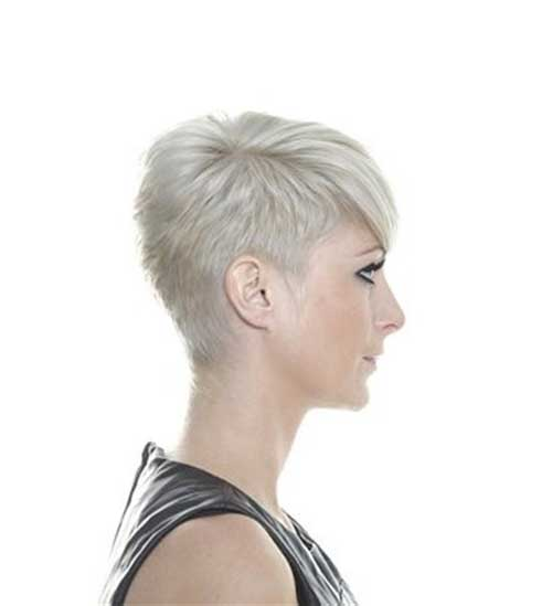 Pixie Cuts Blonde Hair Side View Look