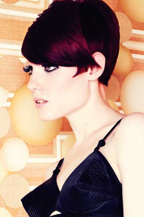 Pixie Cuts Dark Red Hairstyles