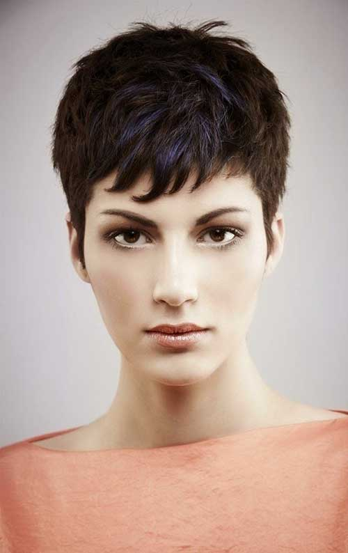 Dark Pixie Cuts for Long Faces