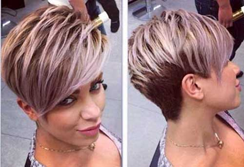 Highlighted Pixie Hairstyles for 2015