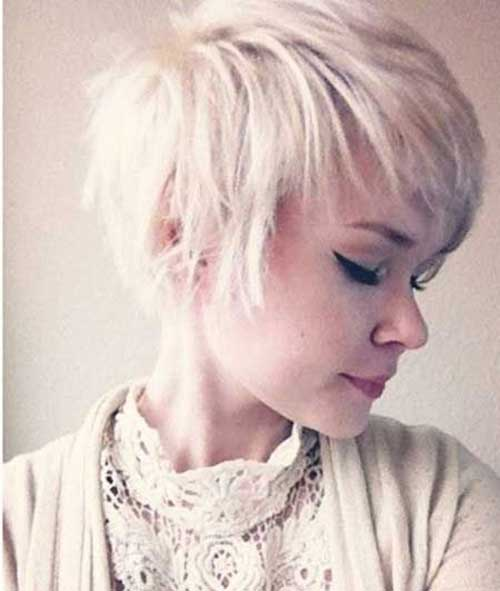 Platinum Blonde Longer Pixie Haircuts