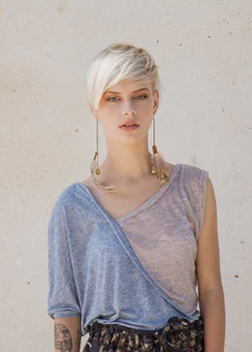 Platinum Blonde Pixie Hair Cuts Ideas