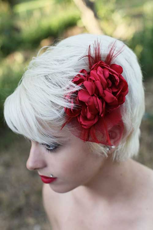 Platinum Blonde Pixie Hairstyles for Wedding
