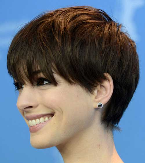 Popular Dark Hair Blunt Pixie Cuts