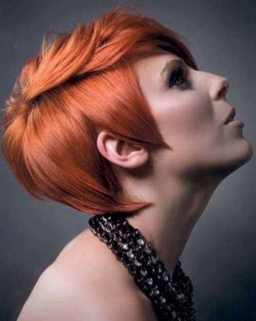 Red Chic Pixie Hair Ideas
