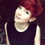 Cute Red Hair Pixie Cut