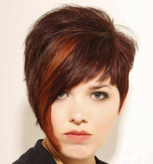 Red Highlighted Pixie Hair Color Ideas