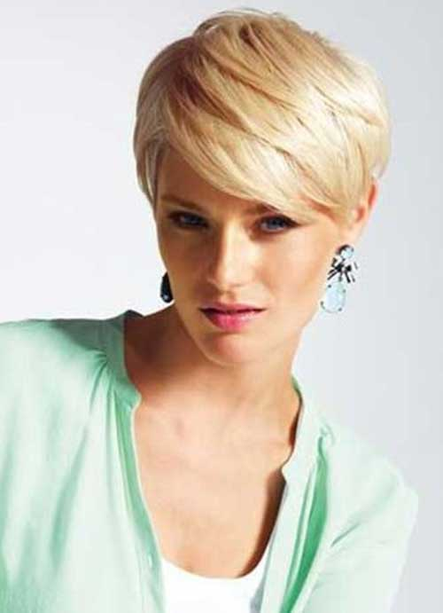 Short Blonde Fine Pixie Crops