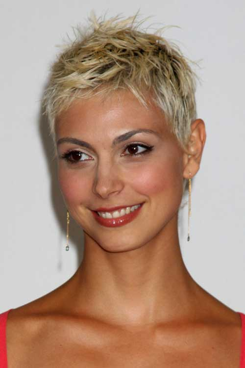 Short Blonde Spiky Pixie Hairstyle