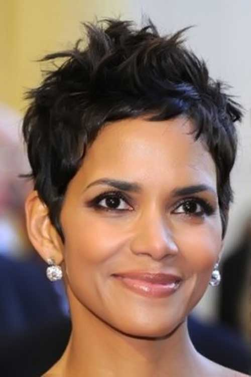 Short Dark Pixie Cuts for Black Women