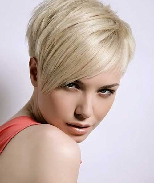 Blonde Short Funky Pixie Cuts