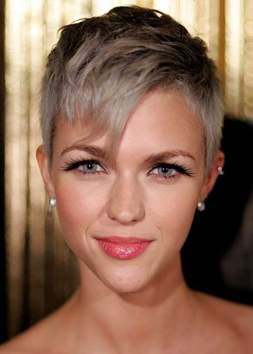 Short Pixie Cuts for Gray Hair Girls