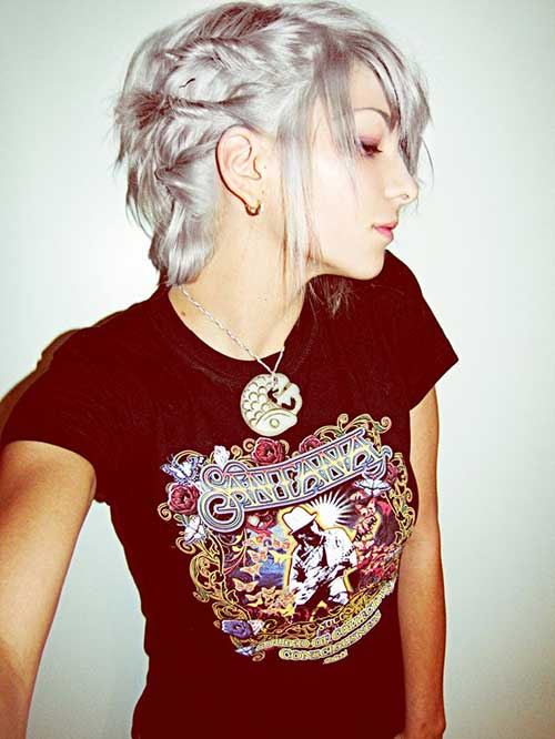 Short Stylish Pixie Haircuts for Grey Hair