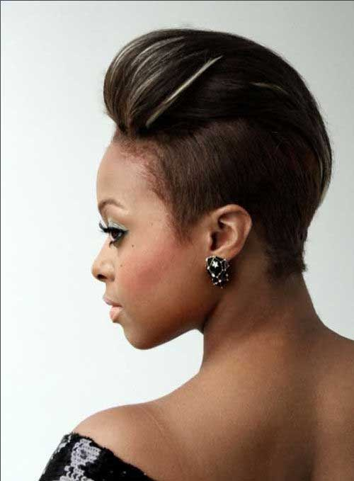 Side Shaved Classy Pixie Cuts