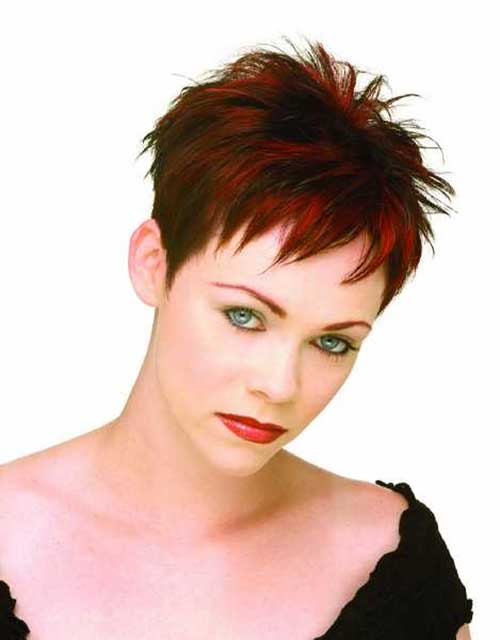 Spiky Pixie Cropped Haircut for Women