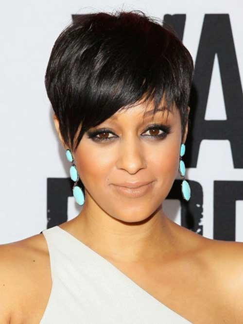 Straight Layered Bangs Pixie Haircut